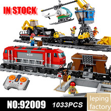 Heavy-Haul Train 02009 Cargo Train City series Compatible with Iego 60098 Building Education Blocks bricks Toys Gift Lepinblocks city creators radio remote control heavy haul train building block worker figures engineering bricks 60098 rc assemblage toys