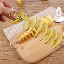 Taglierina a spirale per patate affettatrice per cetriolo spirale per verdure multifunzione spirale taglierina per patate coltello per affettare gadget da cucina