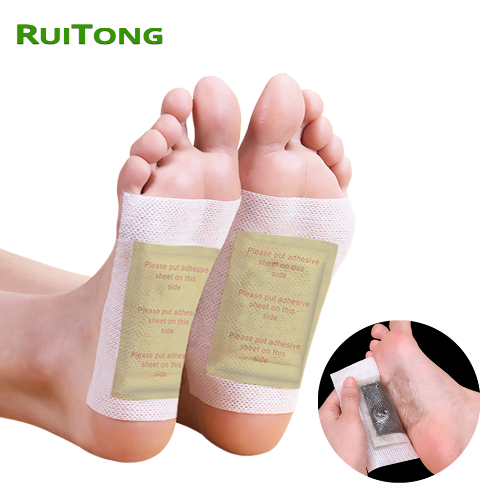60pcs(15bags+30Adhesives)Chinese Medicine Foot Patches Bamboo Detox Foot Patch Vinegar Foot Pads Improve Sleep Beauty Slimming