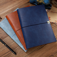 RuiZe Leather Diary Notebook A5 A6 Soft Note Book Cover Travel Journal Notebook Planner 2021 Office School Notepad 6 ring binder