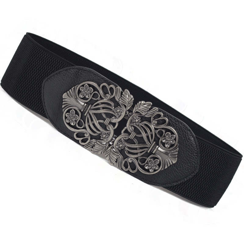 2020 High Fashion Leather Wide Belts For Women New Design Hot Sale Solid Carved Corset Belt Tide Stylish Waistband Female ZL098