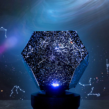 Star Romantic Lamp Star Light Roof Projection Night Light 3D Led Flood Light 3 Color Rotating Sky Projection Lamp Bedroom Gifts