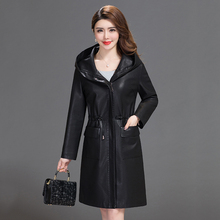 Trench-Coats Long-Jacket Zipper Plus-Size Women Ladies Outerwear New Clothing Hooded