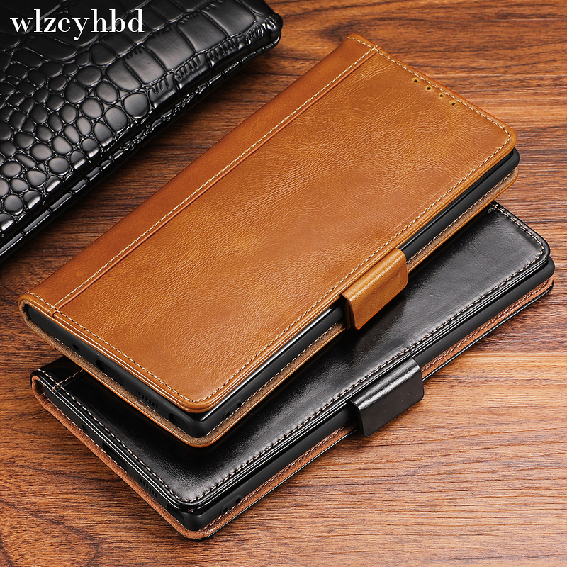 wlzcyhbd Magnet Card Holder <font><b>Flip</b></font> Book Wallet Cases For <font><b>Samsung</b></font> Note 10 8 9 Galaxy <font><b>S10</b></font> S8 S9 Plus Stand Genuine Cow Leather <font><b>Cover</b></font> image
