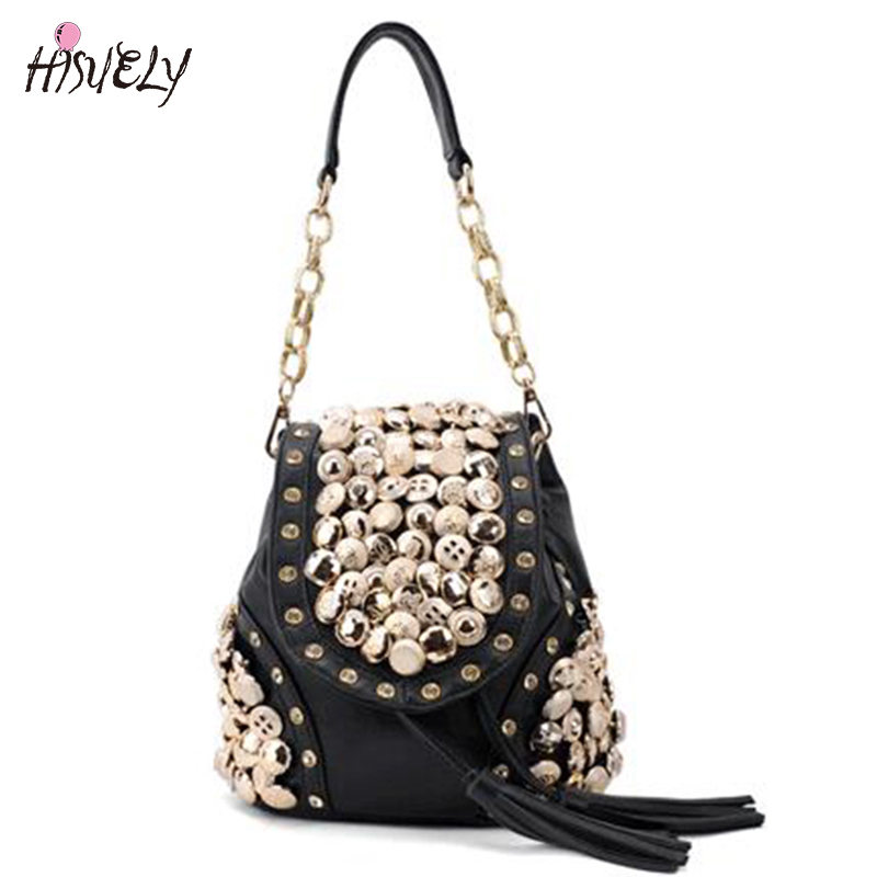 2020 New Women Coin Bag Backpack Fashion Diamond Button Retro Package Tassel Shoulder Bag Diagonal Package Cross Body Bags