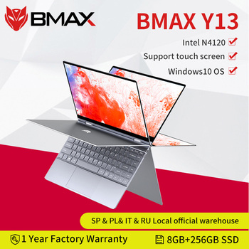 BMAX-ordenador portátil Y13, Intel N4120, 13,3 pulgadas, Quad Core, pantalla IPS de 1920x1080, 8GB LPDDR4 RAM, 256GB, SSD, Notebook, Windows S10