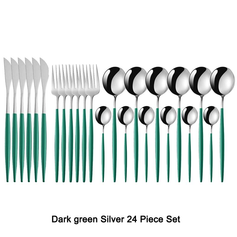 Dark green Silver