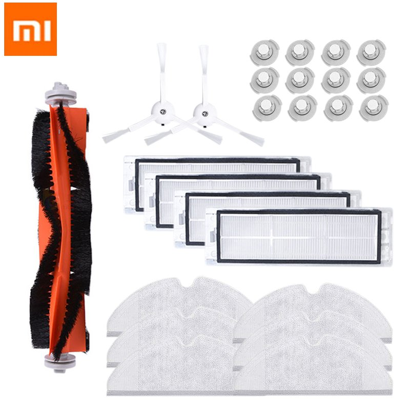 25PCS Xiaomi Mi Roborock Vacuum Cleaner Parts Replacement For Mi Robot Roborock S50 S51 Roborock 2 Vacuum Cleaner Accessory Kit