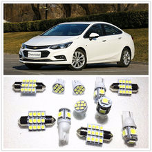 11 Set Putih LED Lampu Interior Paket 10 & 36 Mm & 41 Jalan Dome untuk Chevrolet Cruze Equinox Volt corvette Express 1500 2001-2019(China)