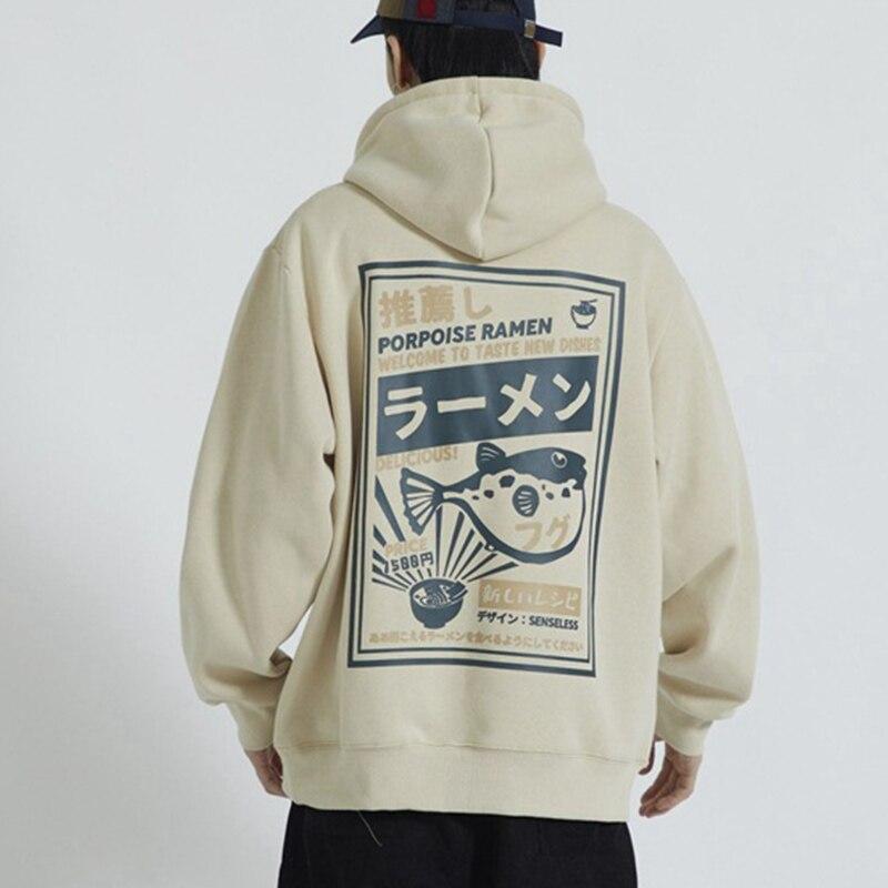 Winter Hooded Fleece Letter Print Mens Sweatshirt Thicken Long Sleeve Male Hoodies Tops 2020 Japanese Hip Hop Warm Men Hoody