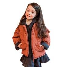 Детский пуховик средней длины для девочек куртка + хлопковый