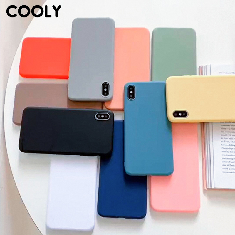 COOLY Candy Color Case For Oneplus 7 Pro Back <font><b>Cover</b></font> on Oneplus 6t Shell Skin <font><b>One</b></font> <font><b>plus</b></font> <font><b>6</b></font> 1 + <font><b>6</b></font> Slim Soft TPU Silicone <font><b>Phone</b></font> Coque image