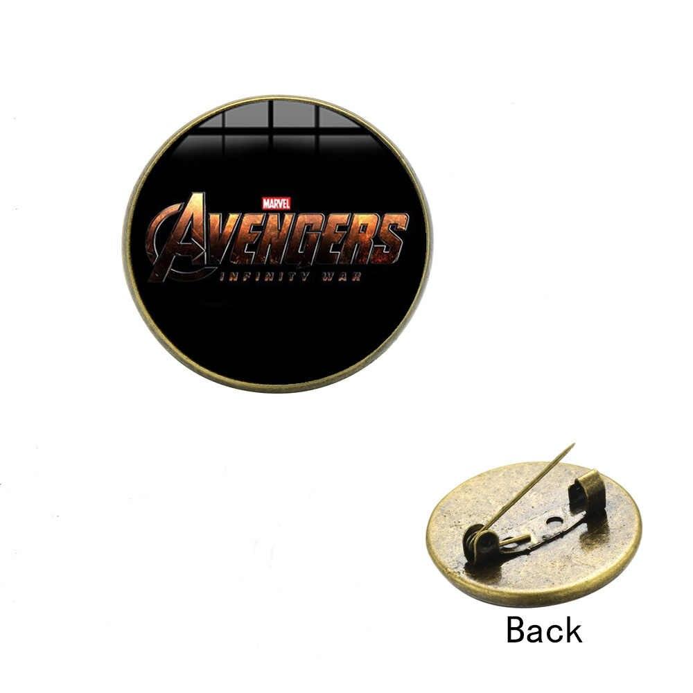 2019 брошь «Мститель» Фильмы Marvel логотип 3D печать стекло кабошон нагрудные значки на кнопках подходят рубашка джинсовые куртки Рюкзак