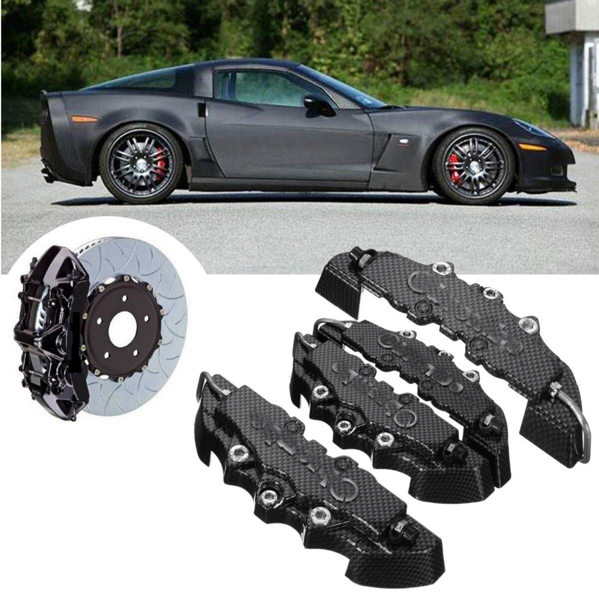 4pcs ABS Anteriore di Alta qualità Posteriore Del Modello Universale A Disco Pinza Freno Copertura Con 3D In Fibra di Carbonio Look M + S Braki