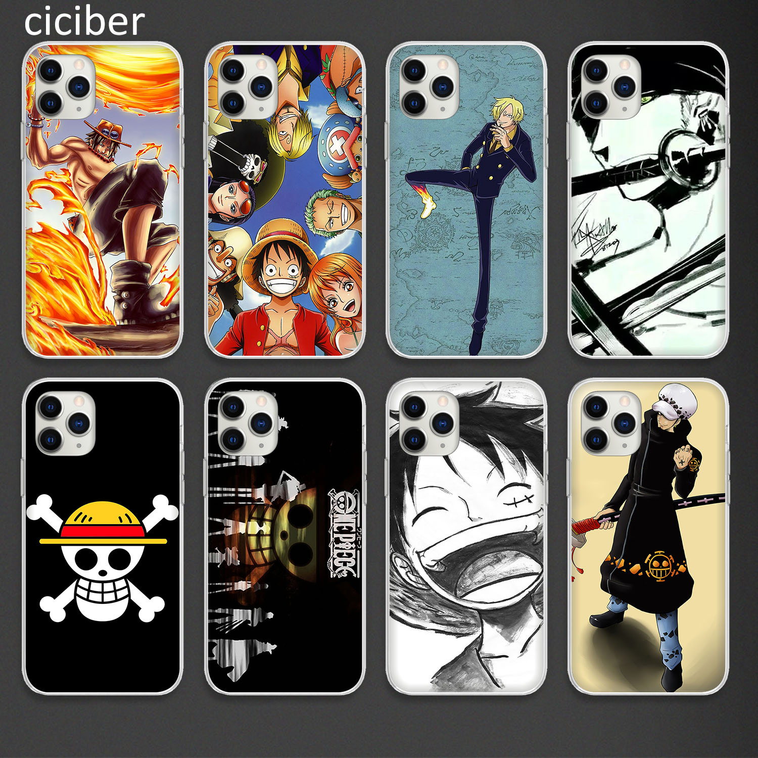 Phone Case for iPhone 11 Pro XS Max Cover For iPhone XR X 7 8 6 6S Plus SE 2020 Case Silicon Soft TPU Coque Funda Cute One Piece