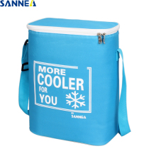 SANNE 15L waterproof portable insulated ice pack can carry food and drink thermal bag Solid color cooler
