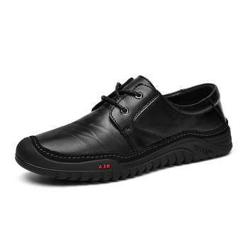 New men's leather shoes business dress casual shoes lace-up non-slip leather shoes