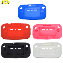 JCD Silicone Rubber Case For Wii U Console Protector Ultra Soft Gel Cover Skin Shell for Nintend WiiU Gamepad Controller 5 Color