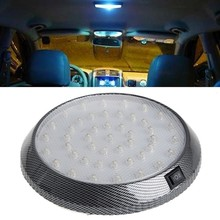 Car Vehicle 12V 46-LED Interior Indoor Roof Ceiling Dome Light White Lamp Auto Reading Lights