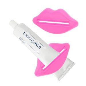 1 PCS Toothpaste tube squeezer sexy red lips shape bathroom tube dispenser cream squeezer random(China)