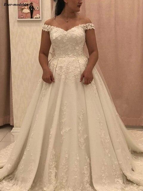 бальное платье принцессы свадебные платья с открытыми плечами фотография