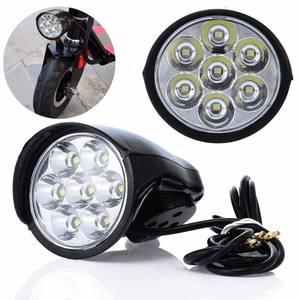 7x светодиодный велосипедный передний светильник, металлический корпус, 80 дБ, электрический мотороллер фара светильник для мотоцикла, фонар...