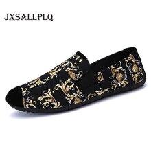 แฟชั่นฤดูใบไม้ผลิใหม่รองเท้าผู้ชายรองเท้าสบายๆผ้าใบแนวโน้มรองเท้าสบายๆ Breathable FlatShoes นุ่มด้านล่างรองเท้าแฟชั่นพิมพ์