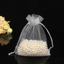 100 шт/лот 7x9 см белая упаковка для украшений и подарков сумки