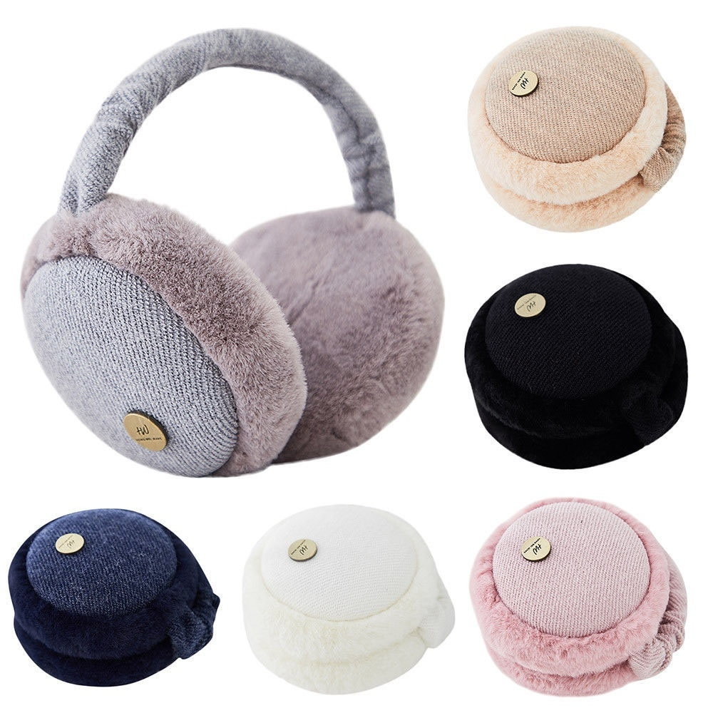 New Fur Solid Color Ladies Earmuffs Autumn And Winter Warm And Comfortable Unisex Skiing Fur Headphones Casque Antibruit Cute