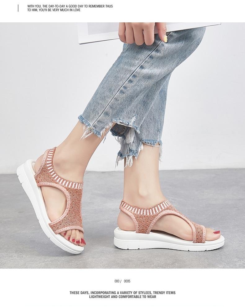H35bd03c658a74d32a2f1b3f969b105dd4 WDZKN 2019 Sandals Women Summer Shoes Peep Toe Casual Flat Sandals Ladies Breathable Air Mesh Women Platform Sandals Sandalias