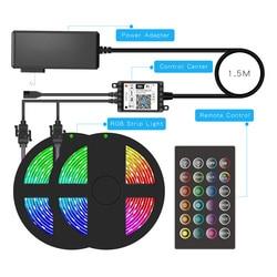 RGB Strip Light Intelligent LED Strip Light Lighting&Music Adjustment Voice Control 5/10/15/20 Meters 150/270/300/360 LED Strip