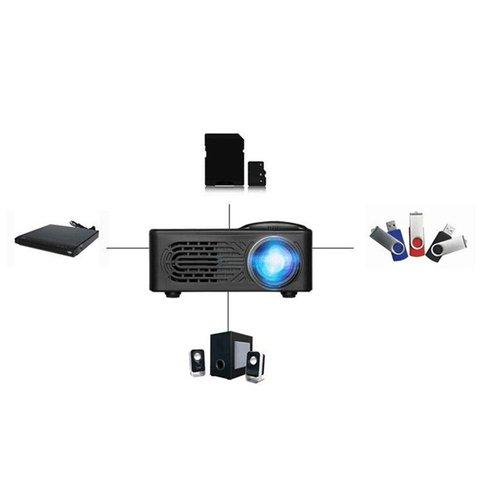 mini projetor led rd 814 suporta 1080