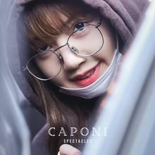 CAPONI Pure Titanium Frame Glasses Women Fashion Clear Glasses Sqaure Eyeglasses Available For Customize Prescripiton T31015