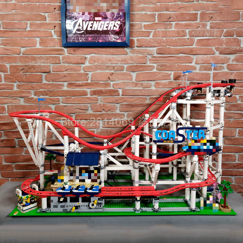 10261 Roller Coaster Playground Building Blocks 4299pcs Bricks Toys Sets Model Compatible Creator 15039 Childrem Gift(China)