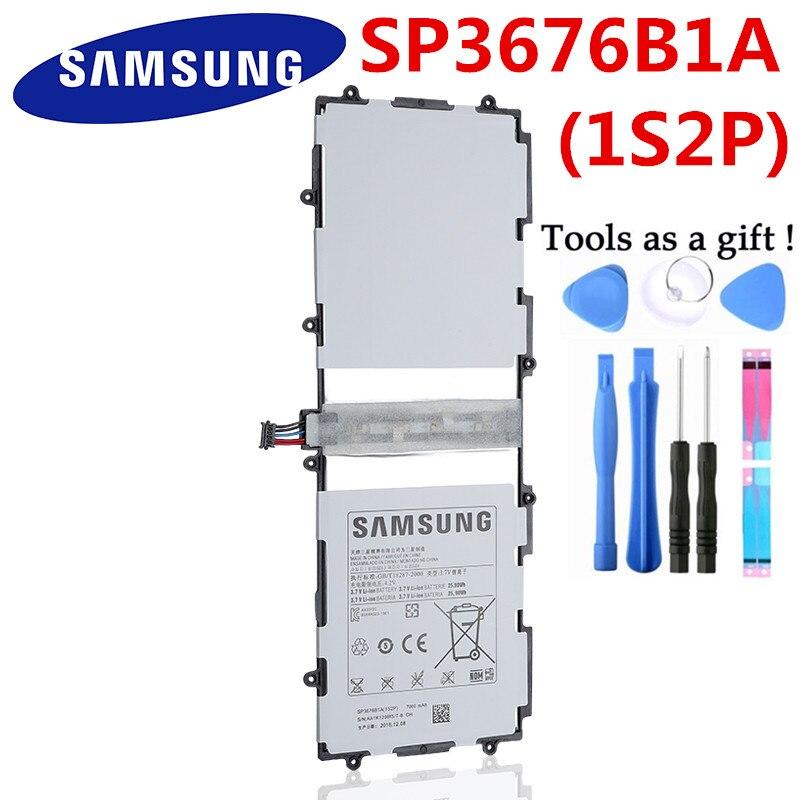 Batterie d'origine SP3676B1A Pour Samsung Galaxy Note 10.1 GT-N8000 N8005 GT-N8010 N8013 N8020 P7500 GT-P7510 P5100 P5113 7000mAh