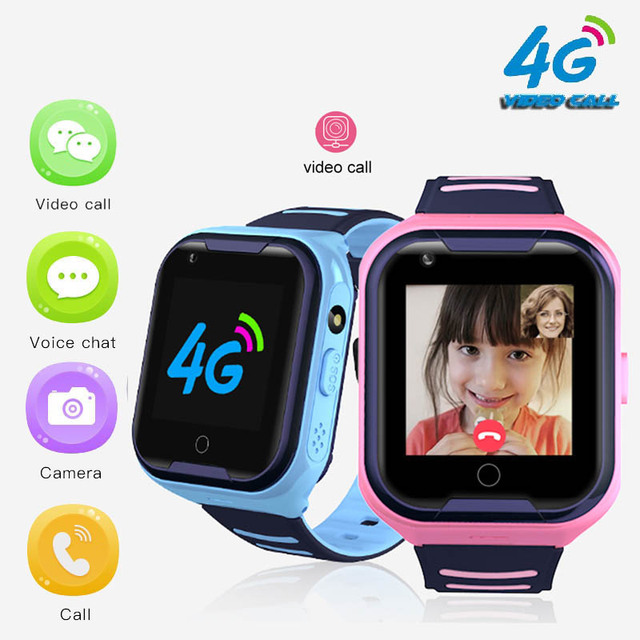 A36E 4G smart kids watch waterproof IPX7 Wifi GPS Video call Monitor Tracker clock Students Wristwatch kids children GPS watch 1