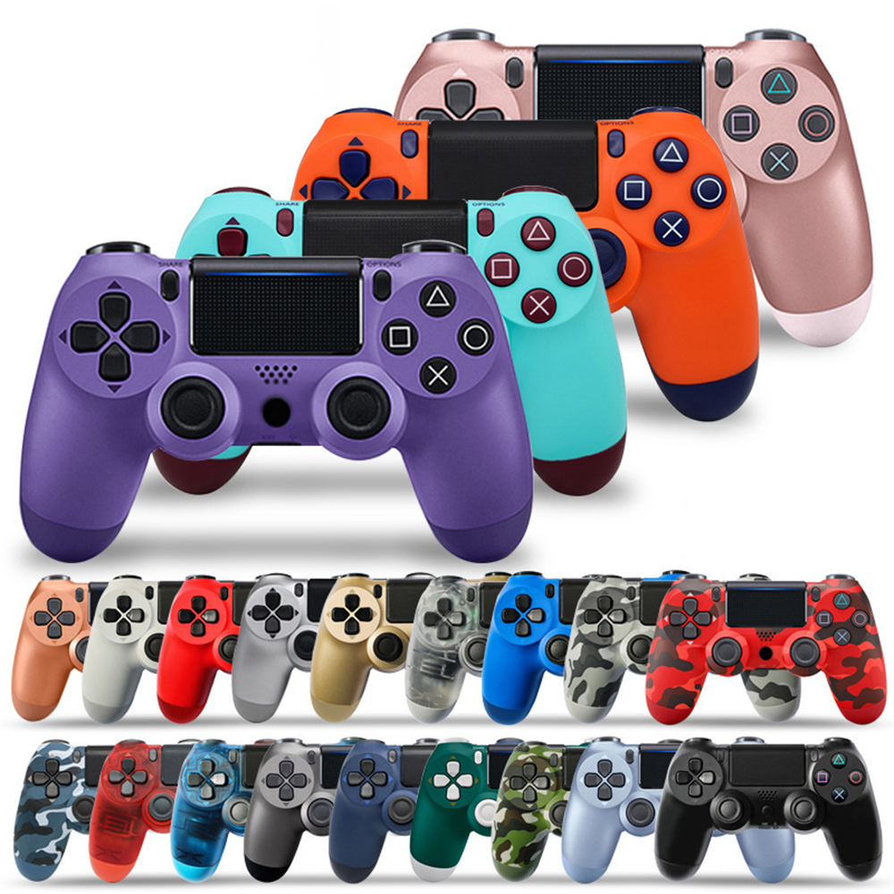 Wireless Wired Bluetooth PS4 Controller Double Shock Joystick PC for Console Controller Gamepad Mando Manette PS 4 on PC(China)