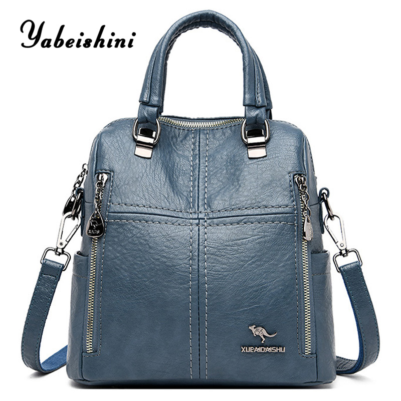 2020 Multifunctional ladies backpack for women travel backpack High-quality luxury leather Shoulder backpack sac a dos femme