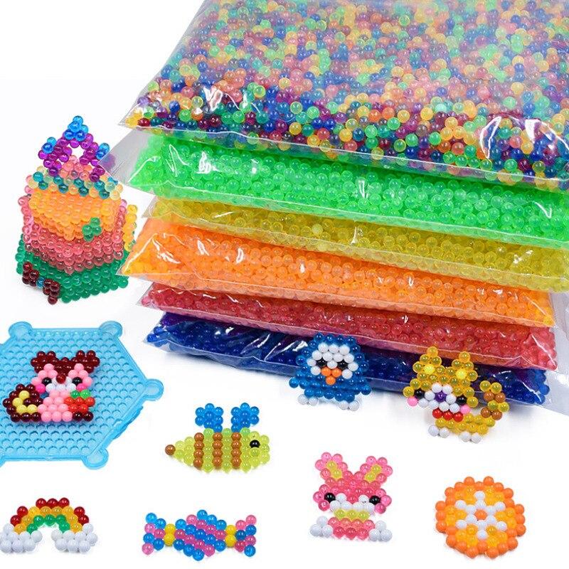 Magic Water Mist Magic Beads Water Spouting Peas In Bulk 12-Color Transparent No Ironing Water Stick Beads Children Handmade DIY