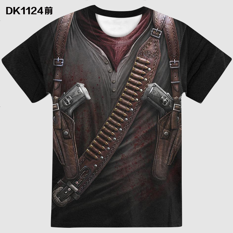 2020 New Cloudstyle  Design Men's T Shirt 3D Gun Warrior Tshirt Print Knife Harajuku Tops Tee Short Sleeve Fitness T-shirt