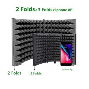 Image 2 - MAONO Studio Microfono Isolamento Scudo Pieghevole Ad Alta Densità di Schiuma Ammortizzante Anteriore per il Pannello Suono di Registrazione Vocale