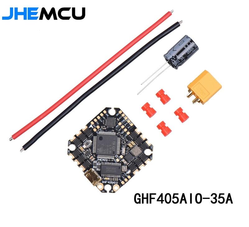 25,5x25,5mm JHEMCU GHF405 BLHELI_S 35A 3-6S controlador de vuelo AIO para RC FPV Racing libre palillo Cinewhoop acondicionado Drones