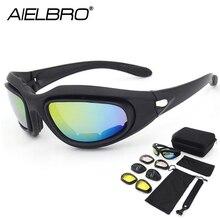 AIELBRO C5 Tactical Military Glasses Sport Polarized Sunglas