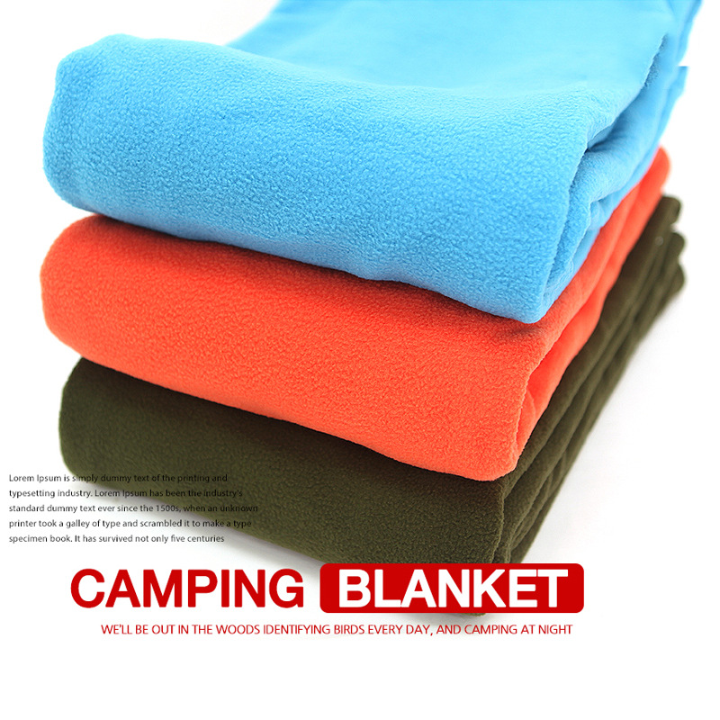 Blanket Outdoor Supplies Product Camping Blanket Sleeping Bag Quilt Portable Keep Warm Breathable Soft Double Sided Zipper 210g