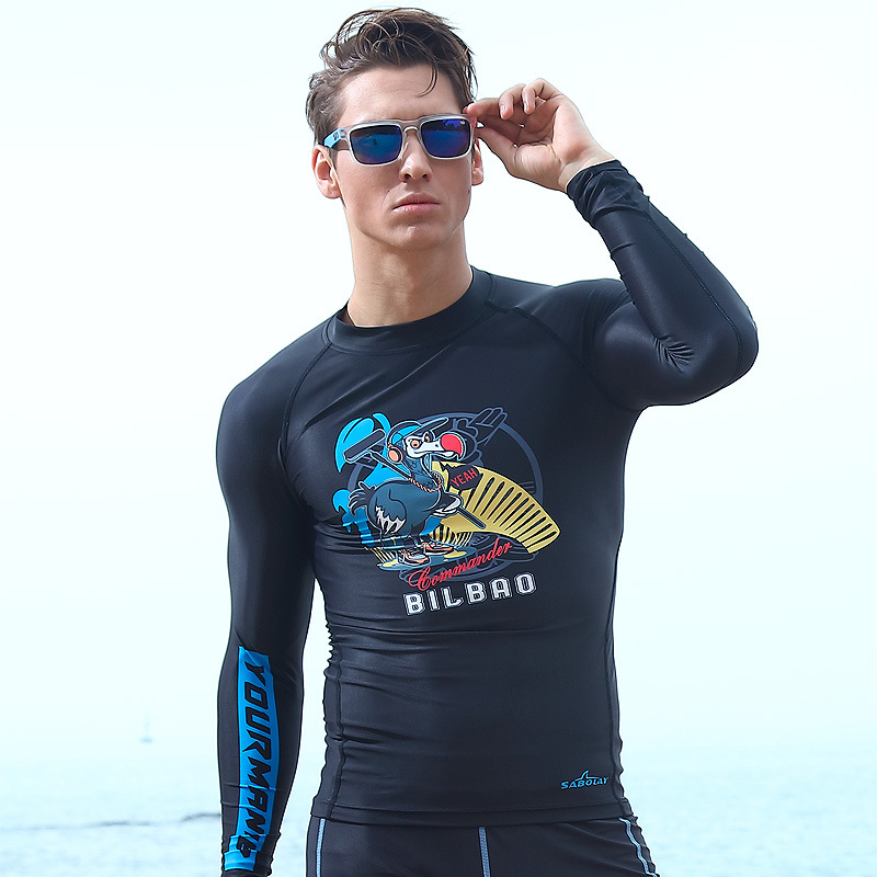 SABOLAY Sports Men's Diving Suit Surfing Quick Drying Clothes Direct Supply Waterproof Mother Bathing Suit Sun-resistant Set Ny0