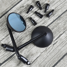 2pcs Universal Motorcycle Anti-glare Mirror Rearview Vintage Handlebar 8mm/10mm Screw