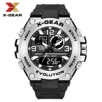 X-GEAR G Style Sport Men's Watches Top Brand Luxury Military Quartz Watch Men Waterproof G Shock Digital Clock Relogio Masculino