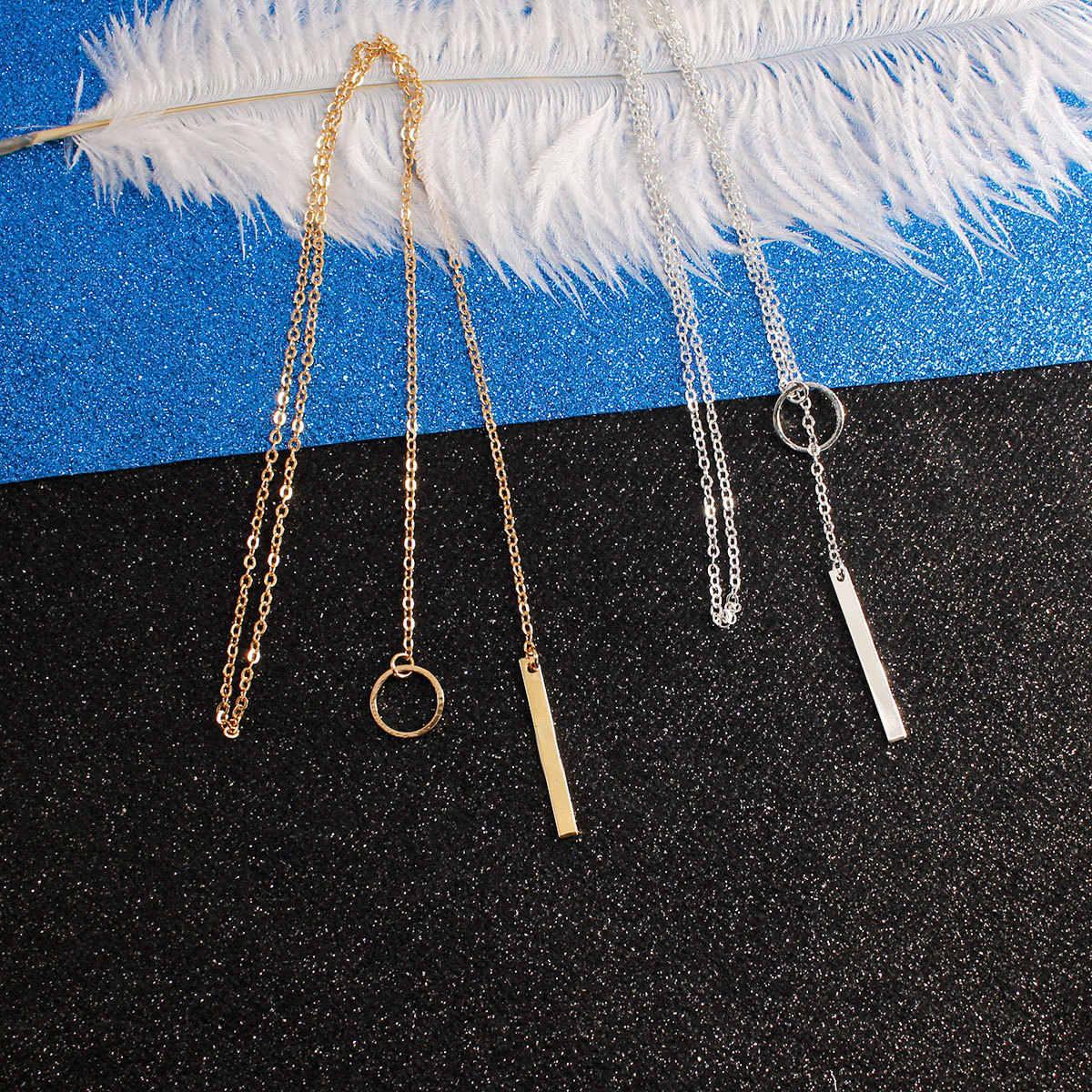 新しいシンプルな人格金属サークルショートネックレスネックチェーン女性のファッション鎖骨ネックレスジュエリー XL012