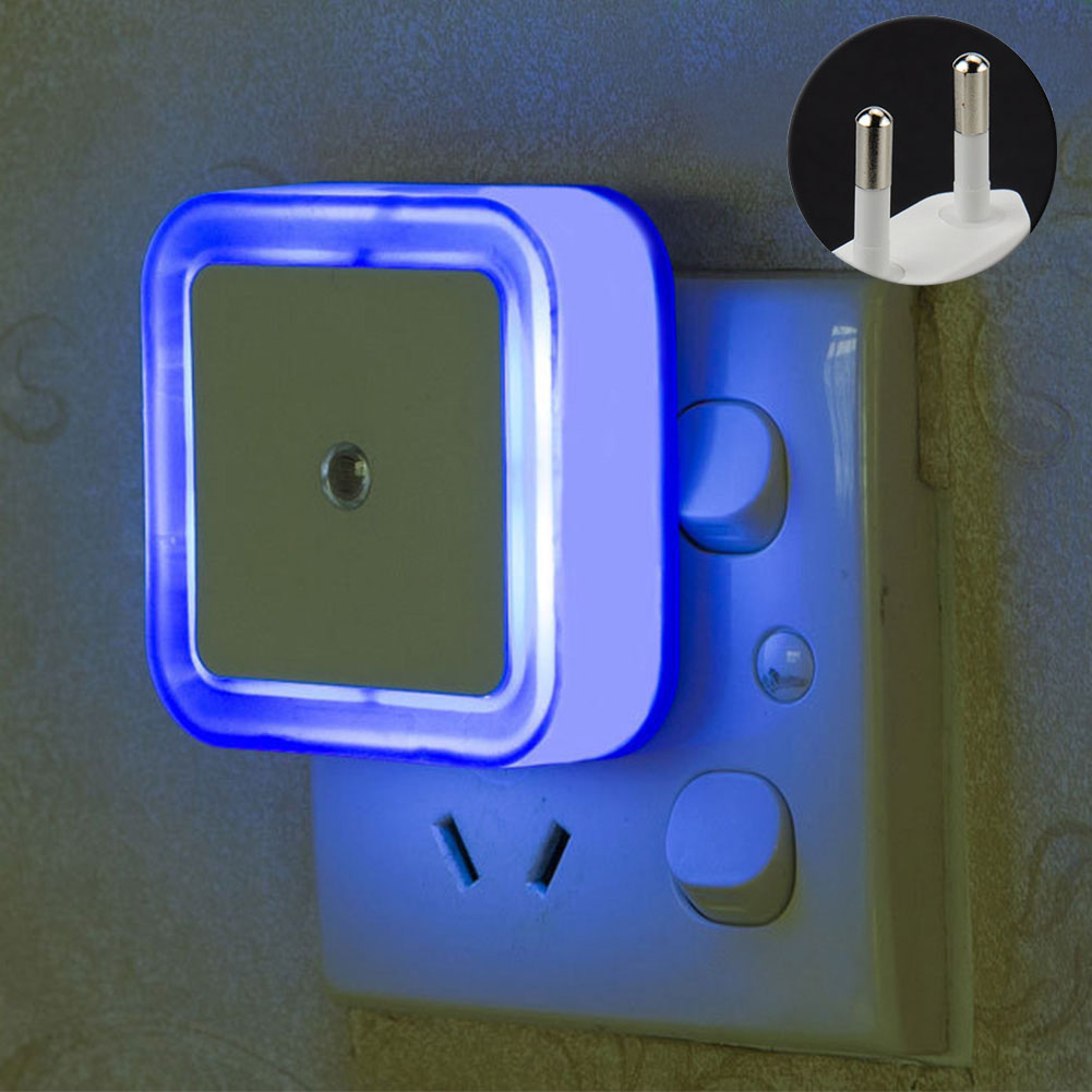 Wall Plug In Night Light Practical ABS Bedroom Hallway Bathroom Motion Sensor Square Shape Indoor Decor Automatic Durable Home