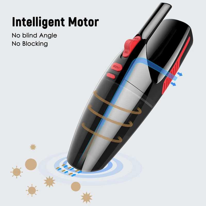 כף יד שואב אבק נייד 4 מטר ארוך רטוב/יבש שואב אבק לרכב בית 120W 12V 5000 הרשות